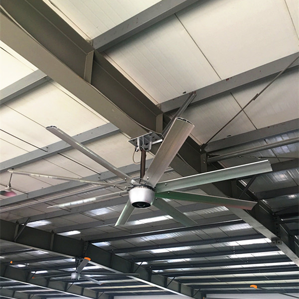 Aluminum Blade Brushless Ceiling Fan Energy Saving For Distribution Centers